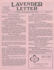 Lavender Letter (Harrisburg, PA) - September 1993