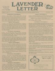 Lavender Letter - November 1993