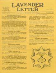 Lavender Letter - December 1993