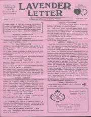 Lavender Letter - February 1994