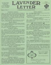 Lavender Letter - March 1994