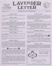 Lavender Letter - April 1994