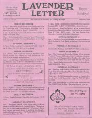 Lavender Letter - December 1994