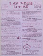 Lavender Letter - January 1995