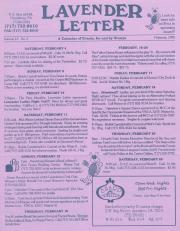 Lavender Letter - February 1995