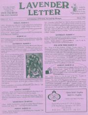 Lavender Letter - March 1995