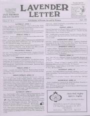 Lavender Letter - April 1995