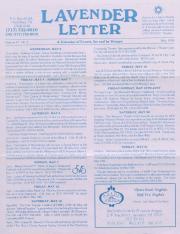 Lavender Letter (Harrisburg, PA) - May 1995