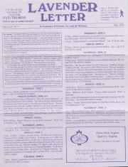 Lavender Letter (Harrisburg, PA) - June 1995