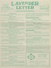 Lavender Letter (Harrisburg, PA) - July 1995