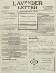 Lavender Letter (Harrisburg, PA) - September 1995