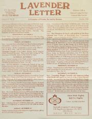 Lavender Letter (Harrisburg, PA) - October 1995