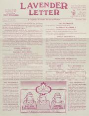 Lavender Letter (Harrisburg, PA) - December 1995