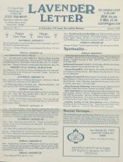 Lavender Letter (Harrisburg, PA) - January 1996