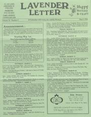 Lavender Letter (Harrisburg, PA) - March 1996