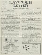 Lavender Letter (Harrisburg, PA) - April 1996