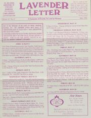 Lavender Letter (Harrisburg, PA) - May 1996