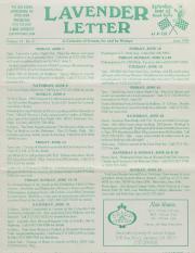 Lavender Letter (Harrisburg, PA) - June 1996