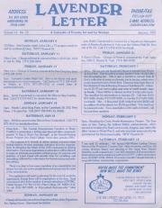 Lavender Letter (Harrisburg, PA) - January 1997