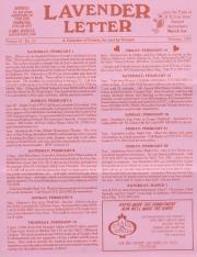 Lavender Letter (Harrisburg, PA) - February 1997