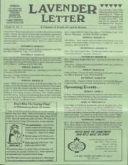 Lavender Letter (Harrisburg, PA) - March 1997