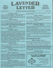 Lavender Letter (Harrisburg, PA) - April 1997