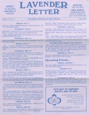 Lavender Letter (Harrisburg, PA) - July 1997