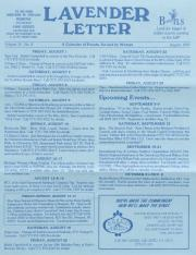 Lavender Letter (Harrisburg, PA) - August 1997