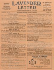 Lavender Letter (Harrisburg, PA) - October 1997