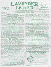 Lavender Letter (Harrisburg, PA) - December 1997