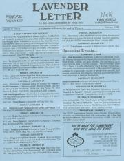 Lavender Letter (Harrisburg, PA) - January 1998