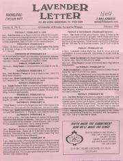 Lavender Letter (Harrisburg, PA) - February 1998