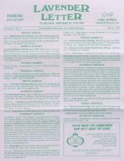 Lavender Letter (Harrisburg, PA) - March 1998