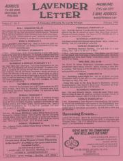 Lavender Letter (Harrisburg, PA) - February 1999