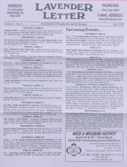 Lavender Letter (Harrisburg, PA) - April 1999