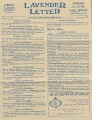 Lavender Letter (Harrisburg, PA) - November 1999