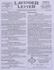 Lavender Letter (Harrisburg, PA) - February 2000