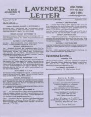 Lavender Letter (Harrisburg, PA) - September 2001