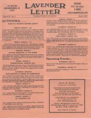Lavender Letter (Harrisburg, PA) - March 2002