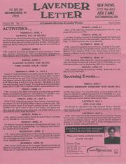Lavender Letter (Harrisburg, PA) - April 2002
