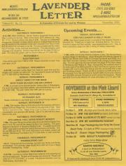 Lavender Letter (Harrisburg, PA) - November 2003
