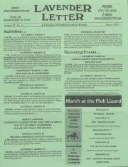 Lavender Letter (Harrisburg, PA) - March 2004