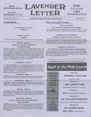 Lavender Letter (Harrisburg, PA) - April 2004