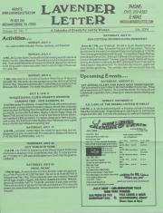 Lavender Letter (Harrisburg, PA) - July 2004