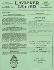 Lavender Letter (Harrisburg, PA) - December 2004