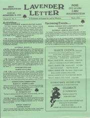 Lavender Letter (Harrisburg, PA) - March 2005