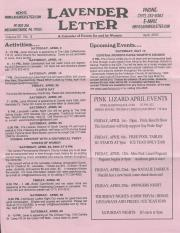 Lavender Letter (Harrisburg, PA) - April 2005