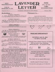 Lavender Letter (Harrisburg, PA) - February 2006