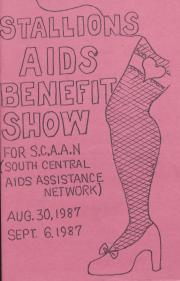 Stallions AIDs Benefit Show Program - August 30 & September 6, 1987