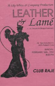 Leather & Lamé (…or, Hearts & Straps Forever!) program – February 16, 1992
